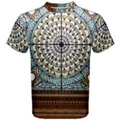 Stained Glass Window Library Of Congress Men s Cotton Tee
