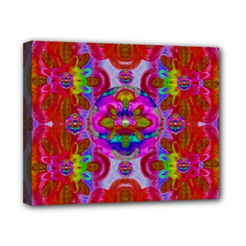 Fantasy   Florals  Pearls In Abstract Rainbows Canvas 10  X 8  by pepitasart