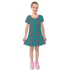 f308fadc02f6 Cute Emoji Blood Drop Kids Short Sleeve Velvet Dress
