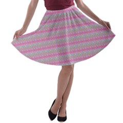 Pink Donuts A Line Skater Skirt by SpookySugar