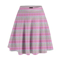 Pink Donuts High Waist Skirt by SpookySugar