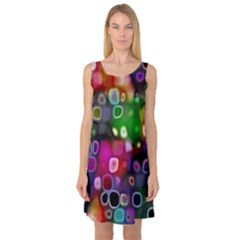 Psychedelic Lights 2 Sleeveless Satin Nightdress by MoreColorsinLife