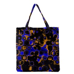 Psychedelic Lights 5 Grocery Tote Bag by MoreColorsinLife