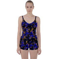 Psychedelic Lights 5 Tie Front Two Piece Tankini