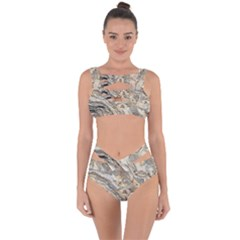 Background Structure Abstract Grain Marble Texture Bandaged Up Bikini Set