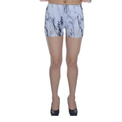 Marble Granite Pattern And Texture Skinny Shorts by Nexatart