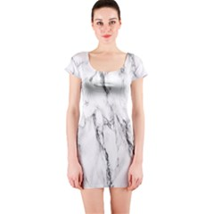 Marble Granite Pattern And Texture Short Sleeve Bodycon Dress