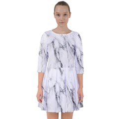 Marble Granite Pattern And Texture Smock Dress