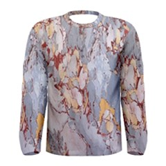 Marble Pattern Men s Long Sleeve Tee by Nexatart