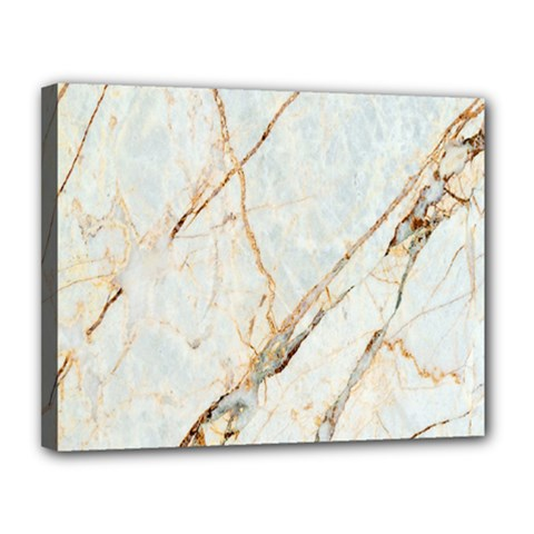 Marble Texture White Pattern Surface Effect Canvas 14  X 11