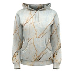 Marble Texture White Pattern Surface Effect Women s Pullover Hoodie
