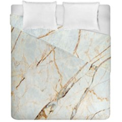Marble Texture White Pattern Surface Effect Duvet Cover Double Side (california King Size) by Nexatart
