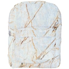 Marble Texture White Pattern Surface Effect Full Print Backpack