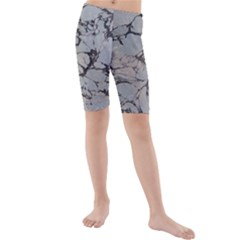 Slate Marble Texture Kids  Mid Length Swim Shorts by Nexatart