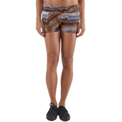 Wall Marble Pattern Texture Yoga Shorts