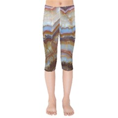 Wall Marble Pattern Texture Kids  Capri Leggings