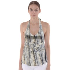 Texture Structure Marble Surface Background Babydoll Tankini Top by Nexatart
