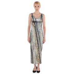 Texture Structure Marble Surface Background Fitted Maxi Dress by Nexatart