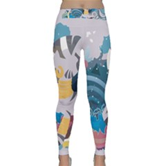 Zecora Stream Wall  Classic Yoga Leggings by amphoto