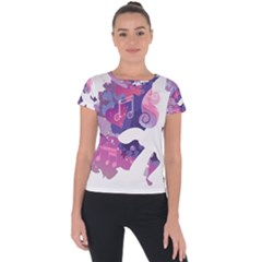 Sweetie Belle Stream Wall  Short Sleeve Sports Top  by amphoto