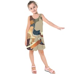 Dr Hooves Stream Wall  Kids  Sleeveless Dress by amphoto