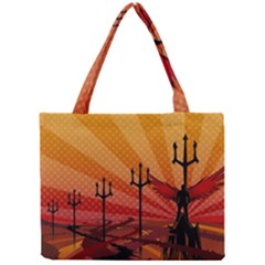 Wings Drawing Poles  Mini Tote Bag by amphoto