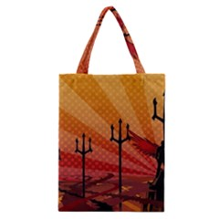 Wings Drawing Poles  Classic Tote Bag by amphoto