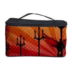 Wings Drawing Poles  Cosmetic Storage Case by amphoto