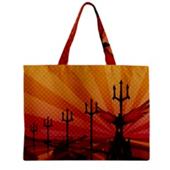 Wings Drawing Poles  Zipper Mini Tote Bag by amphoto