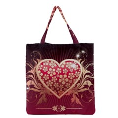 Heart Patterns Lines  Grocery Tote Bag by amphoto