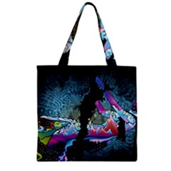 Girl Dress Fly  Zipper Grocery Tote Bag by amphoto