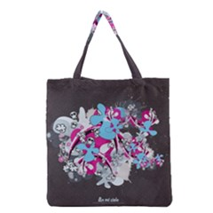 Skulls Ghosts Illustration  Grocery Tote Bag by amphoto