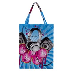Speakers Headphones Colorful  Classic Tote Bag by amphoto