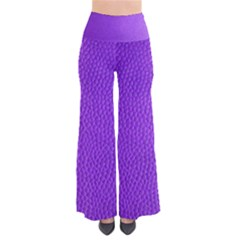 Purple Skin Leather Texture Pattern Pants by paulaoliveiradesign