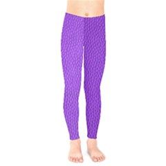 Purple Skin Leather Texture Pattern Kids  Legging by paulaoliveiradesign