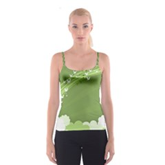 Birds Lines Flight  Spaghetti Strap Top by amphoto
