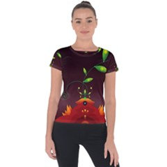 Flight Leaves Bright 3840x2400 Short Sleeve Sports Top