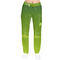Patterns Green Background  Drawstring Pants by amphoto