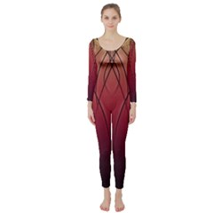 Waves Lines Bands Long Sleeve Catsuit by amphoto