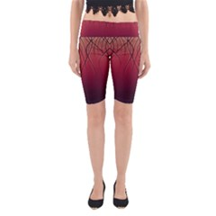 Waves Lines Bands Yoga Cropped Leggings by amphoto