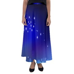 Point Way Glitter Flared Maxi Skirt