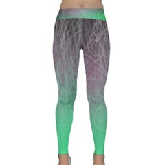 Line Light Surface  Classic Yoga Leggings by amphoto