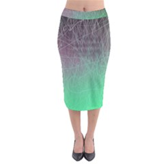Line Light Surface  Midi Pencil Skirt by amphoto