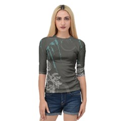 Bird Patterns Backgrounds  Quarter Sleeve Raglan Tee by amphoto
