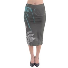 Bird Patterns Backgrounds  Midi Pencil Skirt by amphoto