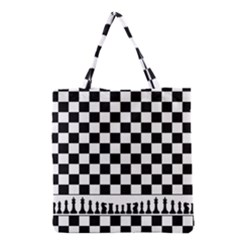 Chess  Grocery Tote Bag by Valentinaart