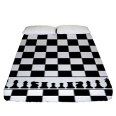 Chess  Fitted Sheet (king Size) by Valentinaart