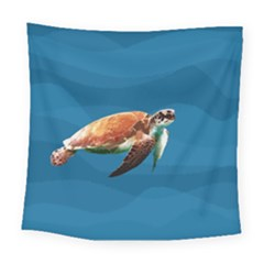 Sea Turtle Square Tapestry (large) by Valentinaart