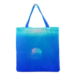 Jellyfish Grocery Tote Bag by Valentinaart