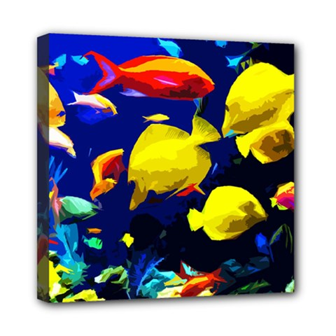 Tropical Fish Mini Canvas 8  X 8  by Valentinaart
